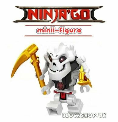 NINJAGO RARE - SAMUKAI - SKULLKIN 4 ARMS GENERAL - fits lego figure (D3)