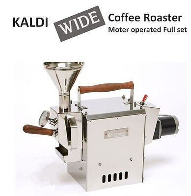 Kaldi Wide Coffee Bean Roaster Full Set Motor Operated For Home Small Cafe