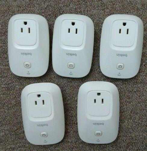 belkin wemo WiFi Switch Smart Plug Home Remote White F7C027 Lot of 5
