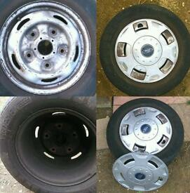 Ford Transit sparewheel with tyre 195/70/R15C