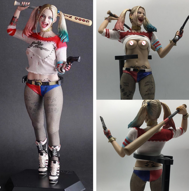 New DC Crazy Toys Suicide Squad Harley Quinn 1//6TH Real Clothes 12/'/' PVC Figure