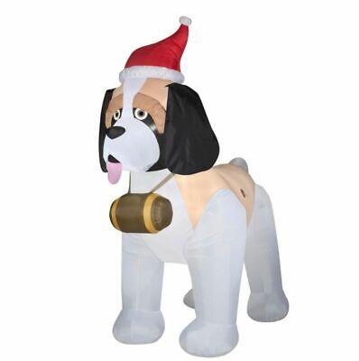 New! Gemmy Airblown 9 ft. Height Inflatable St. Bernard Dog Christmas