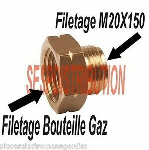 raccord gaz filetage femelle bouteille m le 20 x150 ebay. Black Bedroom Furniture Sets. Home Design Ideas