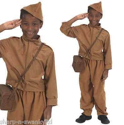 Kinder Jungen 1. Weltkrieg WW2 Bürgerwehr Armee Soldat Uniform Kostüm - Bürgerkrieg Soldat Kostüm