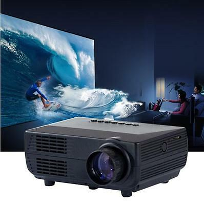 2000lumens LED LCD Projector HD 1080P Home Theater Cinema USB VGA ATV HDMI us