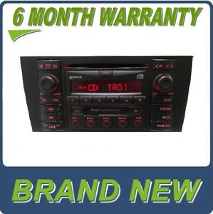 new 00 01 audi b5 a4 a s 4 s4 radio stereo cd player tape. Black Bedroom Furniture Sets. Home Design Ideas