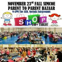 Simcoe Parent to Parent Bazaar Fall Sale Event