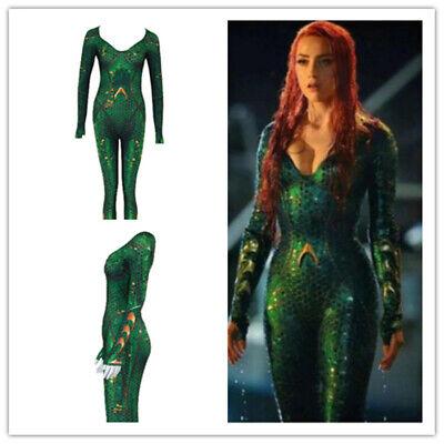 Movie Aquaman Mera Queen for Women Kids Cosplay Costumes Spadnex Bodysuit (Handmade Halloween Costumes For Kids)