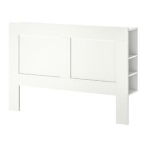 Ikea queen bed head with storage
