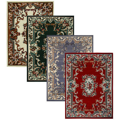 oriental floral border medallion area rug scrolls