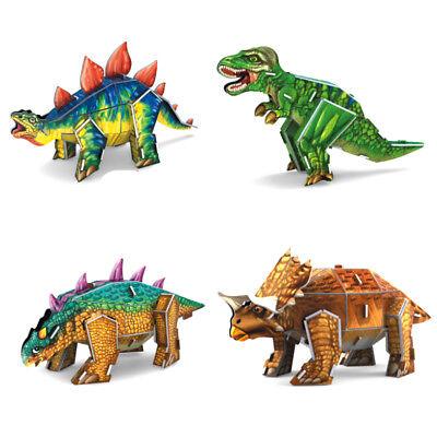 3D Puzzle Dinosaurs T-rex Stegosaurus Triceratops Ankylosaurus Kids Toy Set of 4