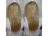 looking for somebody to do meduim box braids with feather tips thanks