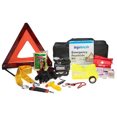 Top Tech 12 pc / Pieces Car Breakdown Emergency First Aid Roadside Kit