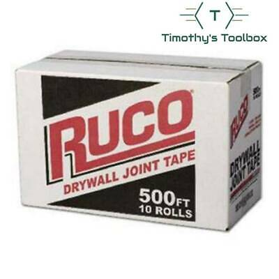 Ruco Drywall Joint Tape 500 Ft- 10 Rolls