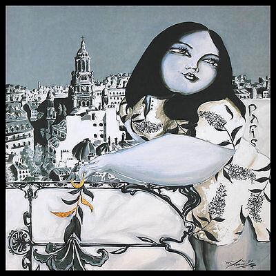 Thomas Diego Armonia Amore Poster Bild Kunstdruck im Alu Rahmen schwarz 70x70cm