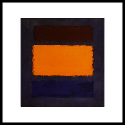 Maroon Rahmen (Mark Rothko Brown Orange Blue on Maroon Poster Bild Kunstdruck & Rahmen 40x40cm)