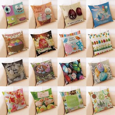 Happy Easter Sofa Bedroom Car Home Decoration Festival Pillow Case Cushion Cover