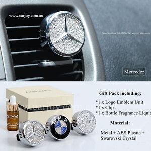Mercedes benz emblem crystal auto car vent air freshener for Mercedes benz car air freshener