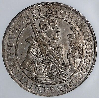 Click now to see the BUY IT NOW Price! SAXONY 1626 JOHANN GEORGE SILVER THALER NGC AU55