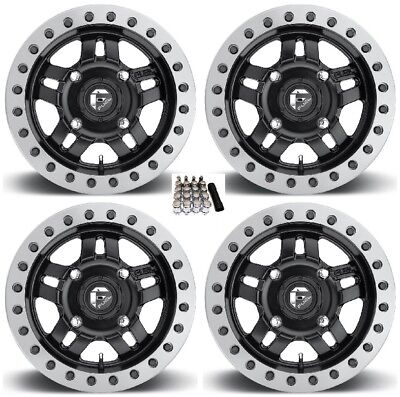 "Fuel Anza Beadlock UTV Wheels Black 15"" Yamaha Viking Wolverine"