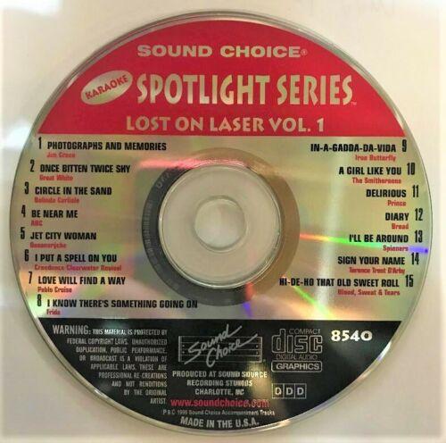 SOUND CHOICE KARAOKE SPOTLIGHT CD+G  8540 LOST ON LASER VOL 1- CDG
