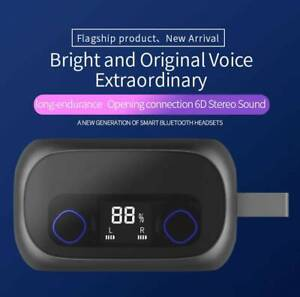V90 High Quality Wireless Bluetooth Headset with 2600mah Power-bank