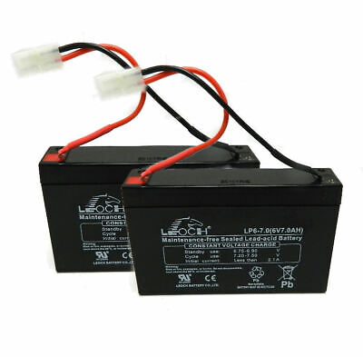2 x MICROCAT BAIT BOAT BATTERIES 6V 7AMP CHARGED READY TO GO FULL GUARANTEE