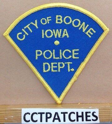 CITY OF BOONE, IOWA POLICE SHOULDER PATCH IA