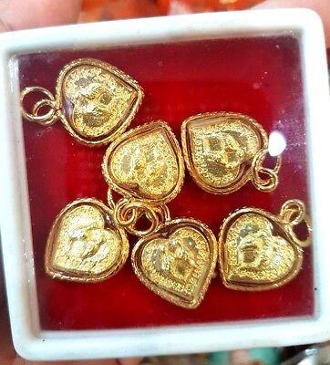 Love Talisman Lucky Heart (1 pcs Thai glod Pha Buddha yantra Rich Lucky love Talisman heart)