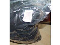4 pillows fibre inside filling black cover outside BRAND NEW