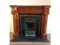 Victorian style fireplace surround