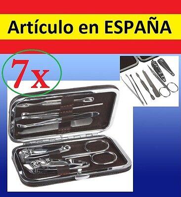 7x herramientas pedicura manicura pinzas depilar aseo personal cortauñas tijeras