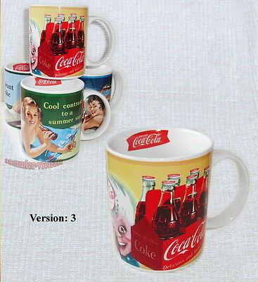COCA COLA - KAFFEEPOTT, KAFFEETASSE 3/4 aus d. Jahr 2010 tolles Motiv, RAR NEU