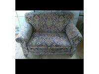 Vintage 2 seater sofa/chaise lounge