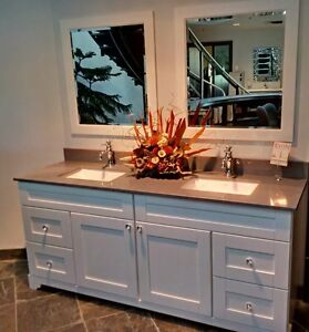 CLEARANCE ! SOLID WOOD CABINETS - SALE - BASE, TOP, SINK, MORROR