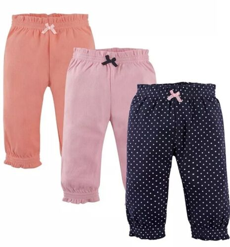 Hudson Baby - Girl's Cotton Gathered Waist Pants, size 9-12m