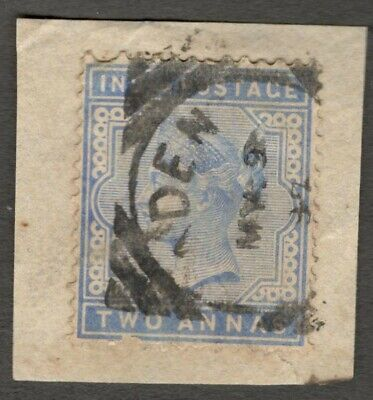 AOP Aden : India used in ADEN QV 2a canc ADEN squared circle on piece SG Z79 £4