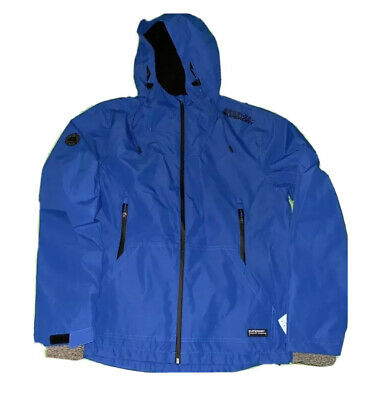 NEW Superdry Men's Hooded Elite Windcheater Jacket Blue Size XL X-Large