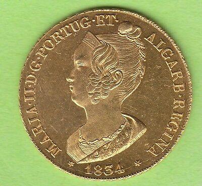 GOLD Portugal Peca 7500 Reis 1834 Prachtexemplar nswleipzig