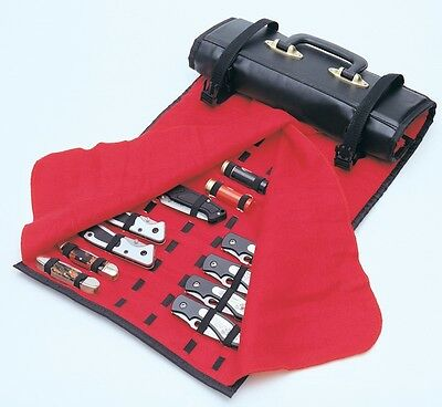 United Cutlery Knife Roll Rug 50-60 Knives Case Black w/ Red Felt Lining 1183 ()