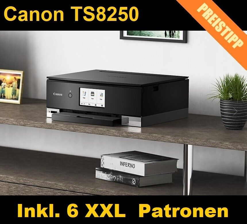 Canon Pixma TS8250 Multifunktionsdrucker 3in1 Wlan Bluetooth CD/DVD-Druck Neu