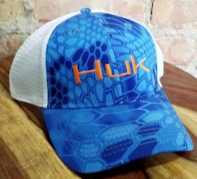 72090ba1a9820 Huk Mens Kryptek Logo Mesh Backed Trucker Hat Baseball Cap One Size NWT