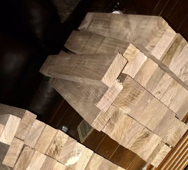 "10 Boards Of 4/4 Black Walnut Wood Lumber Kiln Dried And Planed 13/16""x2.5""x12"""