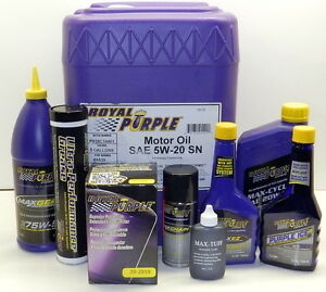 Royal Purple 20w50 HPS Synthetic Motor Oil High Performance Street 12 Qt. Case