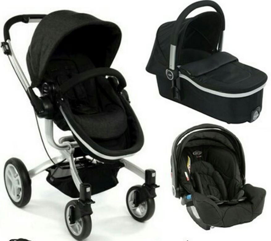 Graco Car Seat Base Pushchair And Pram Carrycot With Rain