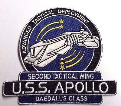 "Stargate SG-1/Atlantis USS Apollo  Logo 5"" Uniform Patch-USA Mailed(SGPA-32-App)"