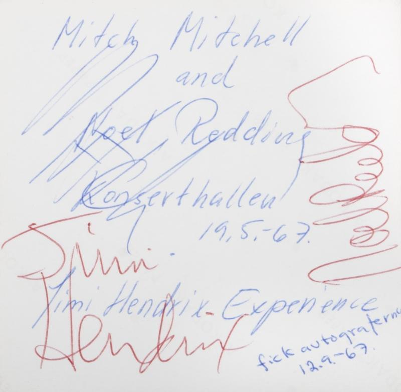 JIMI HENDRIX SIGNED SET OF SIGNATURES + ROGER EPPERSON COA! HENDRIX EXPERIENCE