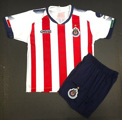 CHIVAS Jersey 2017-2018 Outfit  Kids Size:2,4,6,8,10,12,14years Custom Avai$6+ image