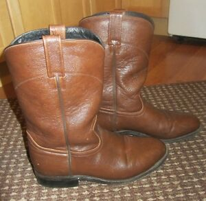 Leather Dan Post western boots Size 8