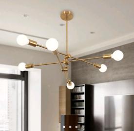 *NEW* Gold Multi Arm Ceiling Pendant Light